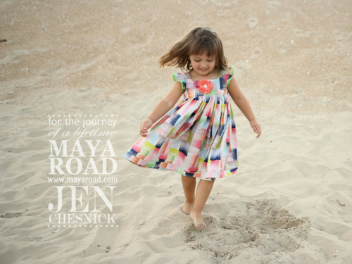 Jen Chesnick- Maya Road Big Flowers Tilly Dress