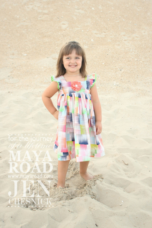 Jen Chesnick- Maya Road- Big Flowers Tilly Dress
